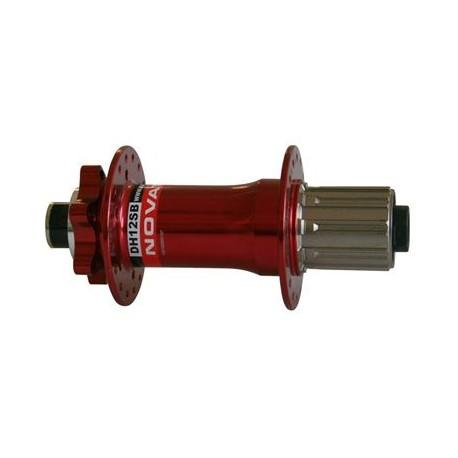 Zadní náboj NOVATEC DH12SB - pevná osa 150x12, 36d, červená
