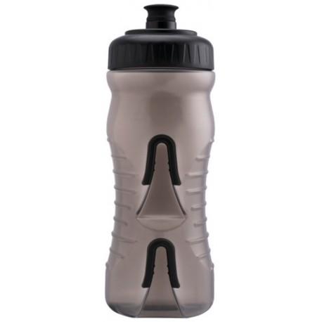 Láhev FABRIC CAGELESS 600 ml transparentní černá
