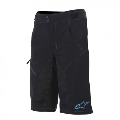 Kraťasy Alpinestars Outrider WR base shorts black/cyan vel. 34