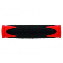 Gripy VELO MTB 2 složkové černo-červené
