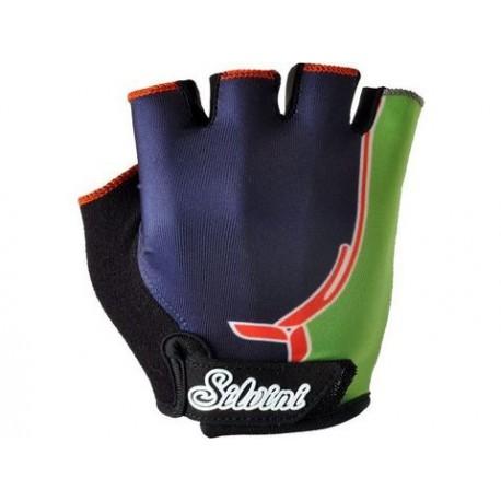 Dětské rukavice SILVINI PUNTA navy/green vel. 13-14