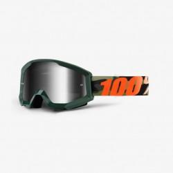 Brýle MX/DH 100% STRATA Huntitistan - stříbrná zrcadlová skla