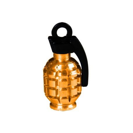 Čepičky na ventilek Grenade Valve, oranžová