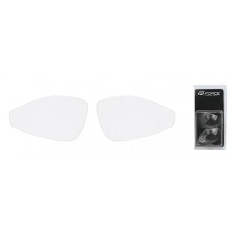 Náhradní skla do brýlí FORCE PRO - čirá