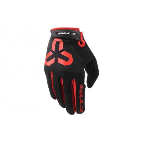 Rukavice CTM GIPPER - celoprstové, červená, vel. XL