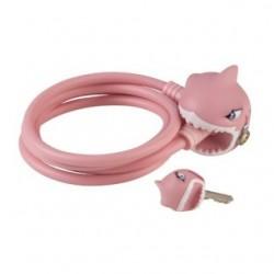 Zámek na kolo CRAZY SAFETY - Pink Shark