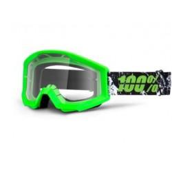 Brýle MX/DH 100% STRATA Crafty Lime - čirá skla