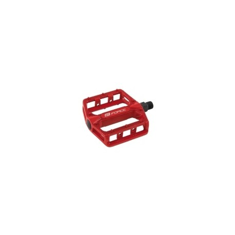 Pedály FORCE BMX HOT, hliníkové, červené
