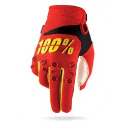 Rukavice 100% Airmatic červené, vel. L