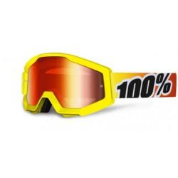 Brýle MX/DH 100% STRATA Sunny Days - červená zrcadlová skla