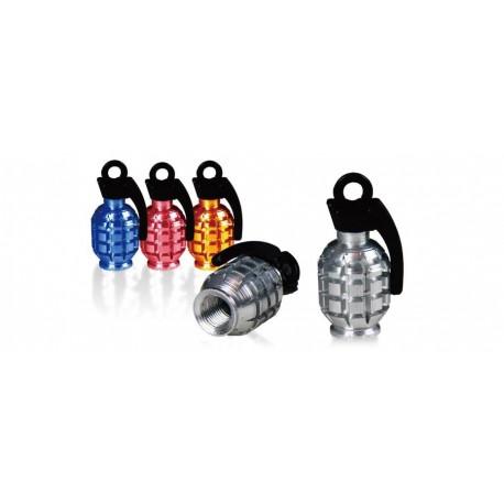 Čepičky na ventilek Grenade Valve, stříbrná