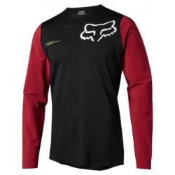 Dres Fox Attack Pro Long Sleeve MTB Jersey - černá/červená vel. XLTARTAN vel. XL