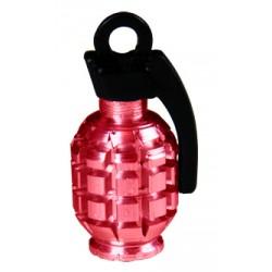 Čepičky na ventilek Grenade Valve, červená