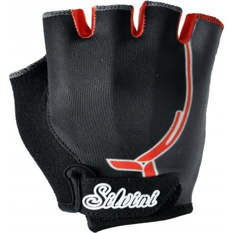 Dětské rukavice SILVINI PUNTA black/orange vel. 9-10
