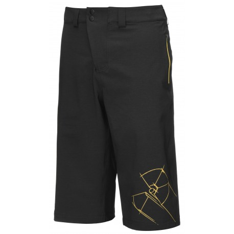 Kraťasy NUKEPROOF Blackline Shorts Rad Black vel. L