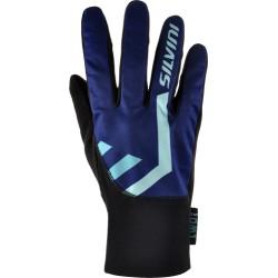 Softshelové rukavice SILVINI Tiber navy-tyrkys vel. L