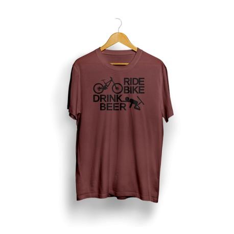 Triko Shredwear Ride Bike - burgundy vel. XL