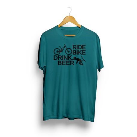Triko Shredwear Ride Bike - tyrkys vel. XL