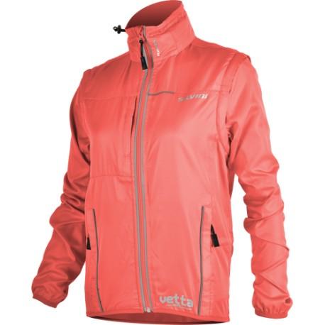Dámská bunda SILVINI Vetta - korálově červená - vel. S