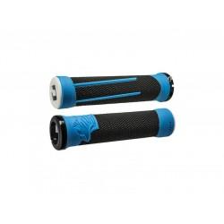 Gripy ODI AG-2 Signature V2.1 bonus pack - černá/modrá