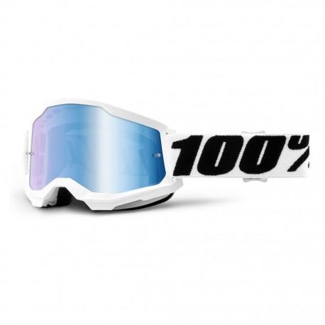Brýle motokrosové 100% STRATA 2 Everest - Mirror Blue Lens